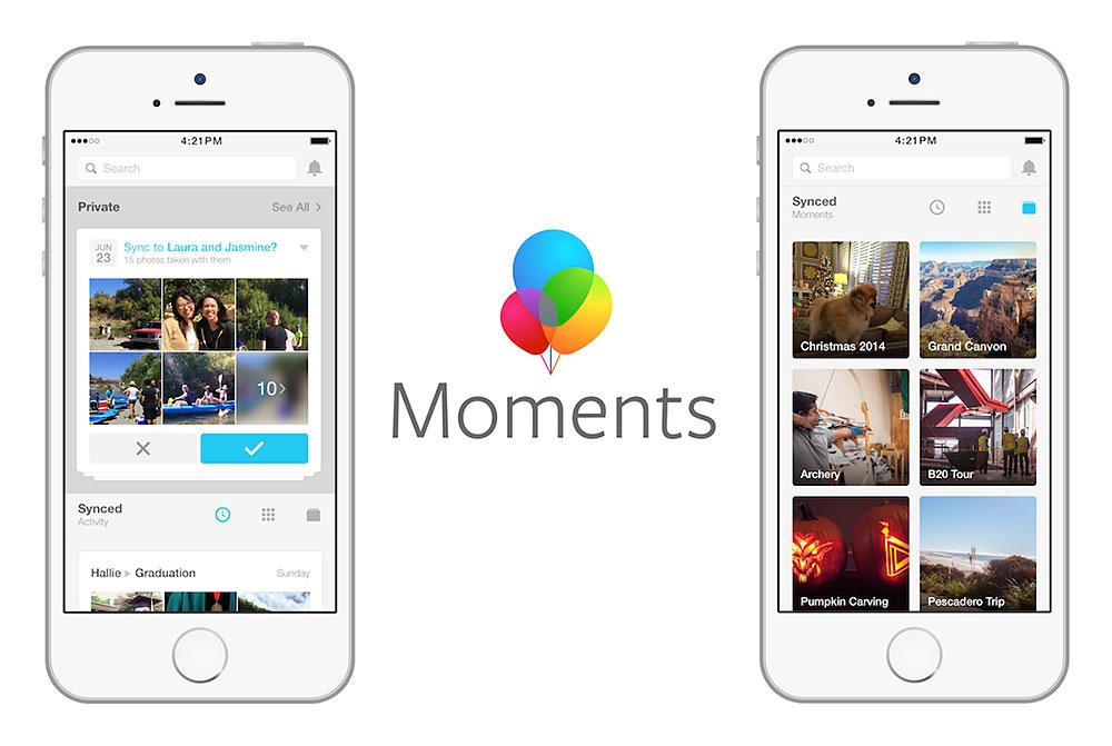 اپلیکیشن Moments