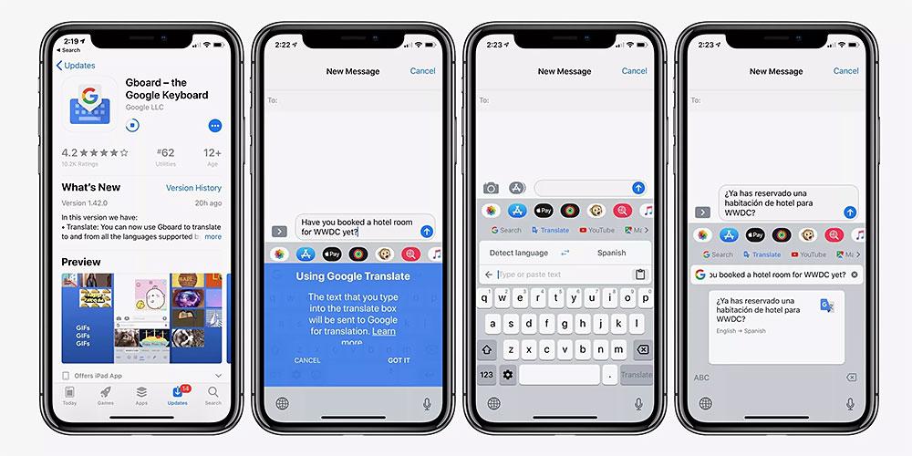 اپلیکیشن جیبورد برای iOS