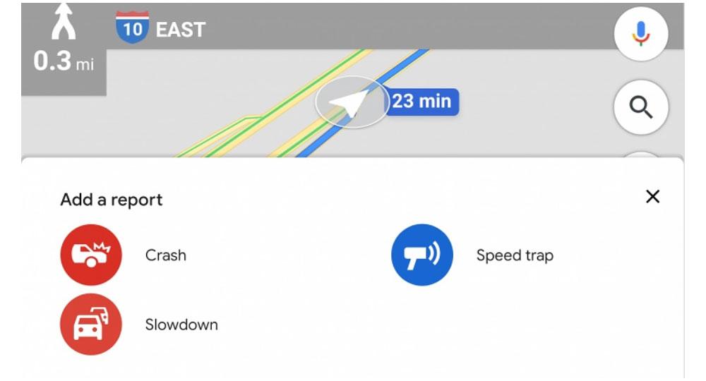 گزارش کردن ترافیک